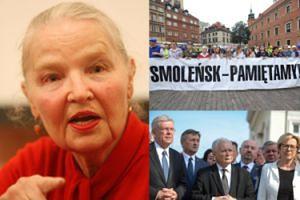 """Jadwiga Staniszkis atakuje opozycję: """"Kontrmiesięcznice to BRAK SZACUNKU dla żałoby osób, które straciły bliskich i przyjaciół!"""""""