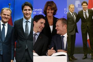 Uśmiechnięty Donald Tusk i Justin Trudeau: CETA PODPISANA! (FOTO)