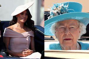 Księżna Meghan ZŁAMAŁA PROTOKÓŁ na urodzinach królowej Elżbiety? Wątpliwości budzi jej sukienka...