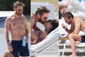 50-letni (!) David Guetta bez koszulki pręży się na plaży (ZDJĘCIA)