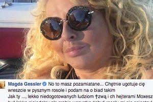 """Magda Gessler do """"fana"""": """"Znany jesteś z robienia lasek konikom pony"""""""