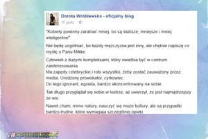 """Korwin Mikke okiem Wróblewskiej: """"Człowiek z dużymi kompleksami"""""""