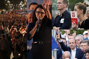 """Kolejny dzień protestów pod Pałacem Prezydenckim: Konstytucja i transparenty z napisem """"WETO"""" (ZDJĘCIA)"""