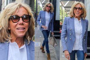 Uradowana Brigitte Macron spaceruje ulicami Paryża (ZDJĘCIA)