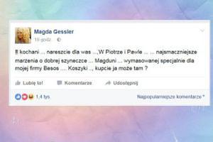 Magda Gessler poleca swoją szyneczkę