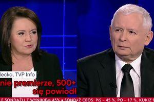 """Jarosław Kaczyński w TVP Info: """"To ja wymyśliłem """"500+"""". Dobrze liczę w pamięci!"""""""