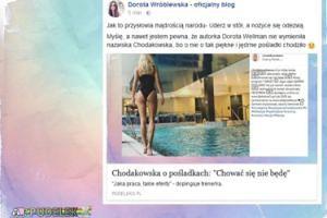 """Dorota Wróblewska o pośladkach Chodakowskiej: """"Uderz w stół, a nożyce się odezwą"""""""