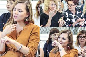 Kwaśniewskie wąchają krem z ręki na evencie kosmetycznym (ZDJĘCIA)