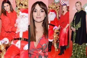 Celebrytki w czerwieni pozują z Mikołajem: Siwiec, Kaczorowska, Krupińska i zielona Jastrzębska… (ZDJĘCIA)