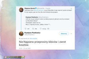 Boniek zaprasza Pawłowicz na kawę