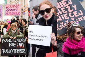 Tłumy Polek i Jessica Chastain protestują w Międzynarodowym Dniu Kobiet! (ZDJĘCIA)