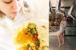 """Fani gratulują Miley Cyrus… CIĄŻY! """"Po prostu objadłam się potrawką z tofu"""" (FOTO)"""