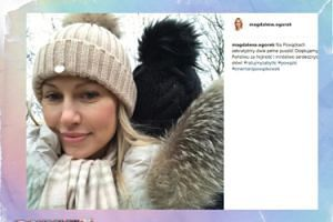 Magdalena Ogórek zrobiła selfie na Powązkach
