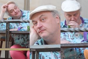 Znudzony Maciej Nowak w restauracji (ZDJĘCIA)