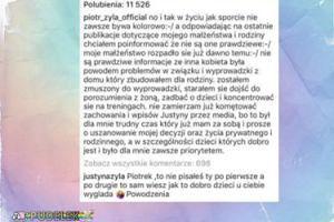 """Justyna Żyła odpowiada mężowi: """"Sam wiesz jak to dobro dzieci u ciebie wygląda"""""""