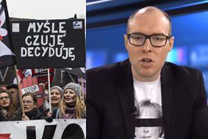 """Prawicowy komentator wyzywa uczestniczki Czarnego Marszu: """"Feminazistki! Wieszakowe PASZTETY Z WĄSEM"""""""