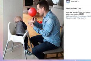 Marcin Mroczek chwali się synem (FOTO)