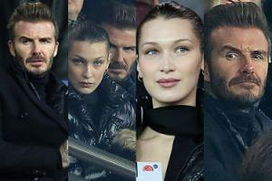 Zadowolona Bella Hadid i zdenerwowany David Beckham razem na meczu Ligi Mistrzów (ZDJĘCIA)