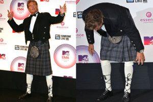 David Hasselhoff w szkockim kilcie! (ZDJĘCIA)