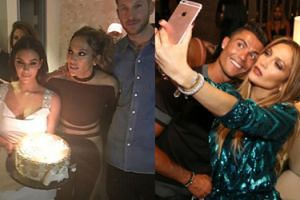 Jennifer Lopez świętuje urodziny z... Cristiano Ronaldo i Kim Kardashian! (FOTO)