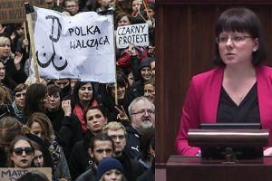 """Działaczka """"pro life"""" w Sejmie: """"Ludzie nie chcą zbrodniczej i feministycznej ustawy. Chcą zakazu zabijania chorych dzieci!"""""""