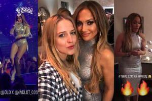 Jessica Mercedes spotkała się z Jennifer Lopez w Las Vegas (ZDJĘCIA)