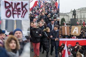 Tłumy pod Sejmem i Pałacem Prezydenckim (ZDJĘCIA)
