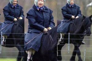 91-letnia (!) królowa Elżbieta jeździ konno nad Tamizą (FOTO)