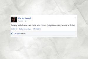 Maciej Nowak o imprezowaniu