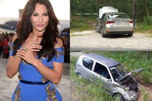 Menedżer Steczkowskiej wiózł ją bez prawa jazdy i miał wypadek!