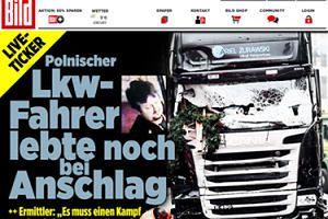 """""""Bild"""": """"Polski kierowca żył w chwili zamachu. Złapał za kierownicę, by ratować ludzkie życie"""""""