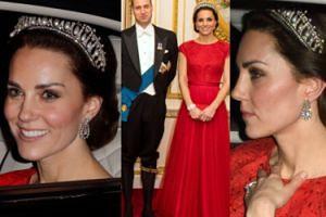 Księżna Kate w tiarze księżnej Diany w Pałacu Buckingham (ZDJĘCIA)