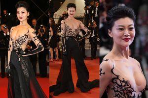 """Żądna atencji """"gwiazdka"""" pokazała sutki na premierze w Cannes... (ZDJĘCIA)"""