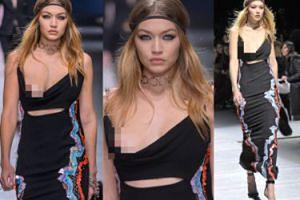 Gigi Hadid POKAZAŁA PIERŚ na pokazie Versace (FOTO)