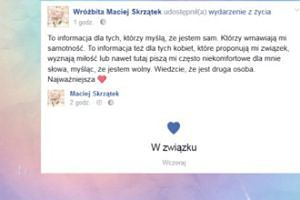 """Wróżbita Maciej zapewnia: """"Wiedzcie, że jest druga osoba"""""""