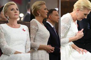Majestatyczna Agata Duda na obchodach Święta Konstytucji 3 Maja (ZDJĘCIA)