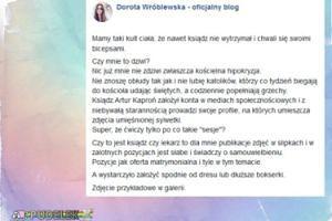 Dorota Wróblewska krytykuje zdjęcia księdza-kulturysty