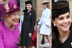 Rodzina królewska świętuje Wielkanoc. Księżna Kate rodzi już za trzy tygodnie (ZDJĘCIA)