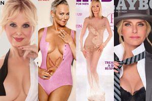 """Emerytowane króliczki """"Playboya"""" odtwarzają swoje okładki sprzed lat! Wciąż seksowne? (ZDJĘCIA)"""