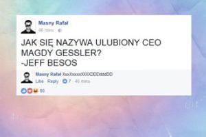 Rafał Masny żartuje z Magdy Gessler