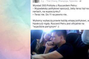 """Jan Śpiewak: """"Ryszard Petru jest oficjalnie na """"wyjeździe partyjnym"""" :)"""""""