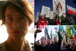 """Ostaszewska o proteście ONR pod Teatrem Powszechnym: """"TERRORYZM. Byłam tam, nikt nie ma prawa używać przemocy"""""""