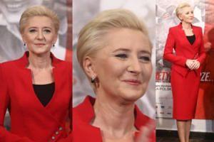 Agata Duda w czerwieni otwiera wystawę o kobietach-żołnierzach (ZDJĘCIA)