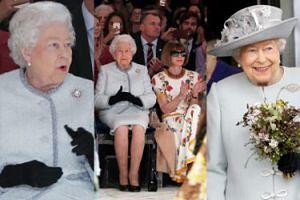 Królowa Elżbieta II plotkuje z Anną Wintour podczas londyńskiego tygodnia mody (ZDJĘCIA)