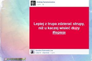 Andrzej Saramonowicz wierszykami wyśmiewa PiS