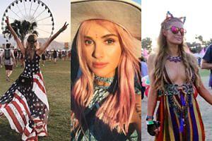 Maffashion z różowymi włosami, Jessica Mercedes zawinięta we flagę i inne celebrytki na festiwalu Coachella (ZDJĘCIA)