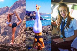 Pilotka ćwicząca jogę między lotami została gwiazdą Instagrama (ZDJĘCIA)