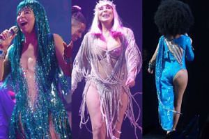 71-letnia (!) Cher w prześwitujących kreacjach szaleje na scenie (ZDJĘCIA)