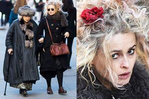 Helena Bonham Carter  na spacerze z mamą (ZDJĘCIA)