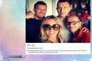 Karolina Szostak promuje się z Tomaszem Adamkiem